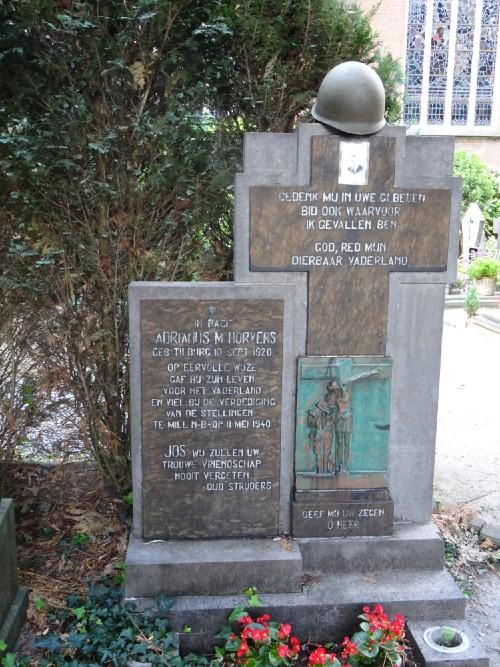 Sepulchral Memorial Adrianus Maria Horvers Roman Catholic Churchyard Goirke Tilburg