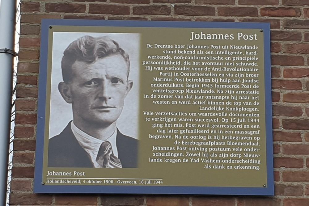 Herdenkingsborden Slotermeer Johannes Poststraat