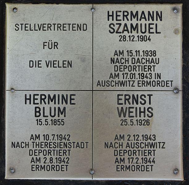 Gedenkstenen Joseph-Samuel-Park