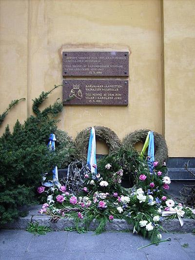 Plaque Swedish War Volunteers 1939-1944