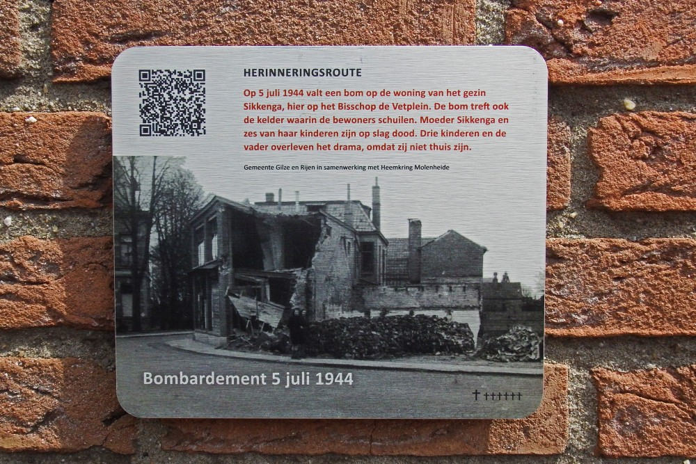 Memory Route World War ll Bombing 5 July 1945 Bisschop de Vetplein Gilze
