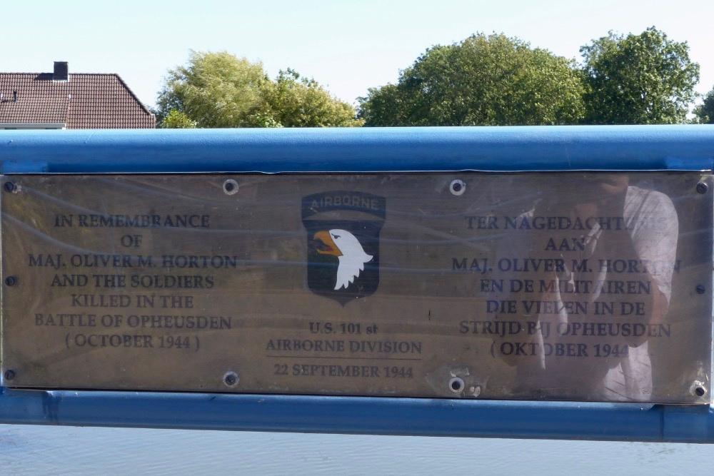 Major Horton Bridge & Plaque Opheusden