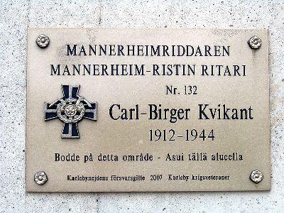 Plaque Carl-Birger Kvikant