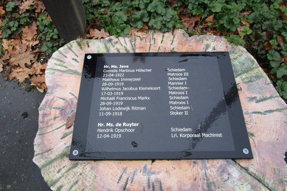 Herdenkingsplaquette omgekomen zeelieden Javazee