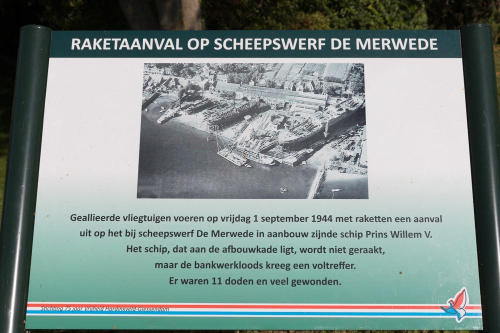 Information sign no. 3 Second World War in Hardinxveld-Giessendam