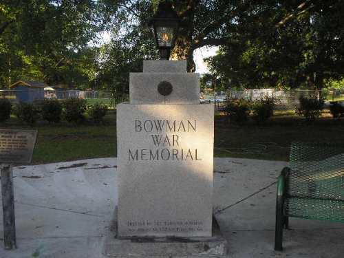 War Memorial Bowman
