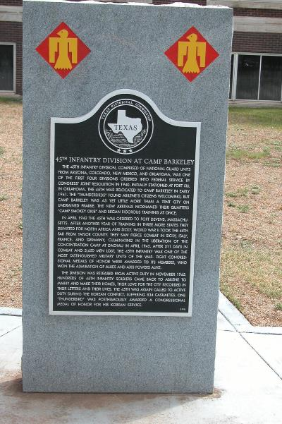 Texas Historic Marker - 45th Infantry Division