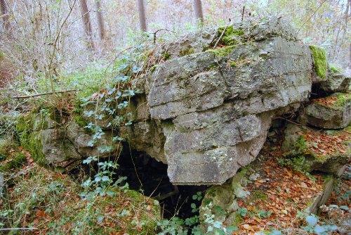 Remains German MG-Bunker Groeneburg Wood