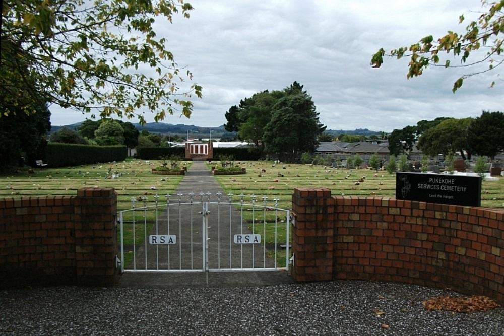 Oorlogsgraven van het Gemenebest Pukekohe Public Cemetery