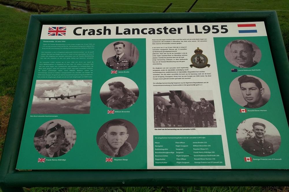 Lancaster LL955 information panel