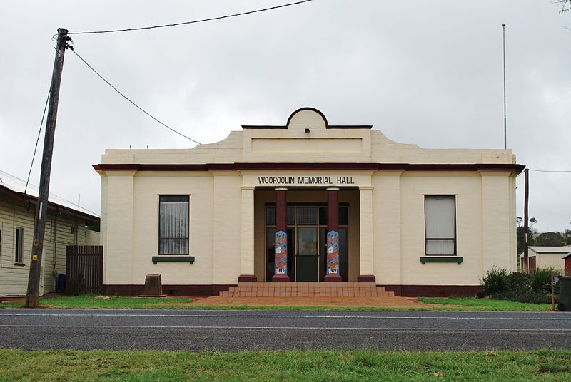 War Memorial Hall Wooroolin