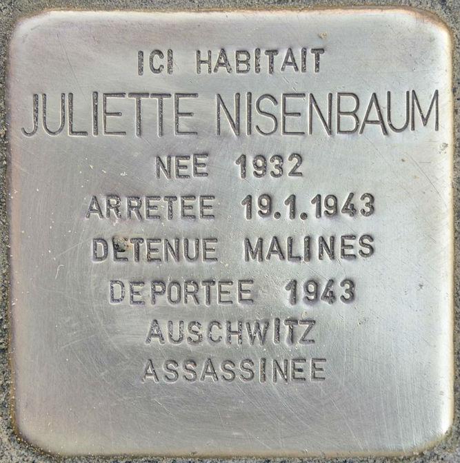 Stolpersteine Rue Antoine Bréart 76