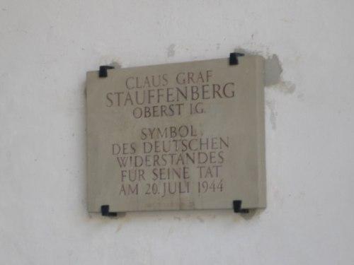Plaquette Claus von Stauffenberg