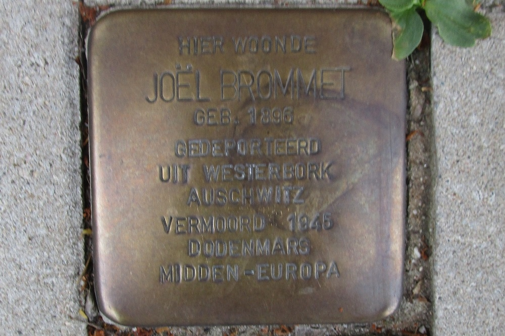 Remembrance Stone Rooseveltlaan 74-I