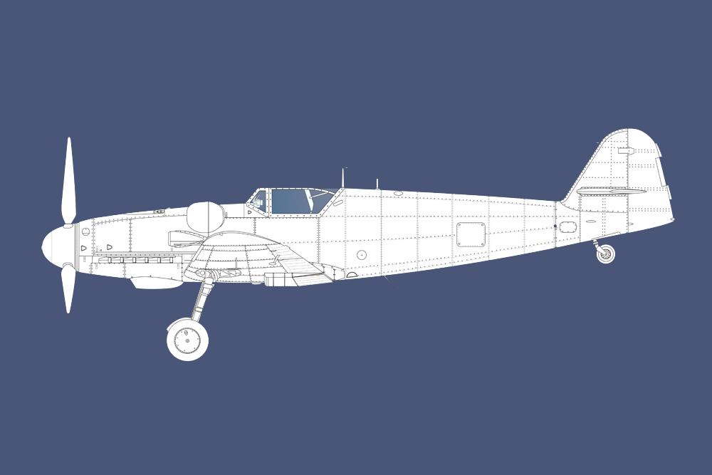 Crashlocatie Messerschmitt Bf 109G-14 462677