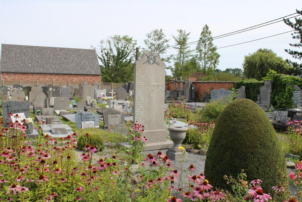 Oorlogsmonument Begraafplaats Thieulain