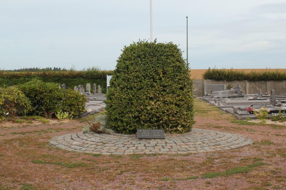 Gedenksteen Oudstrijders Begraafplaats Chastre