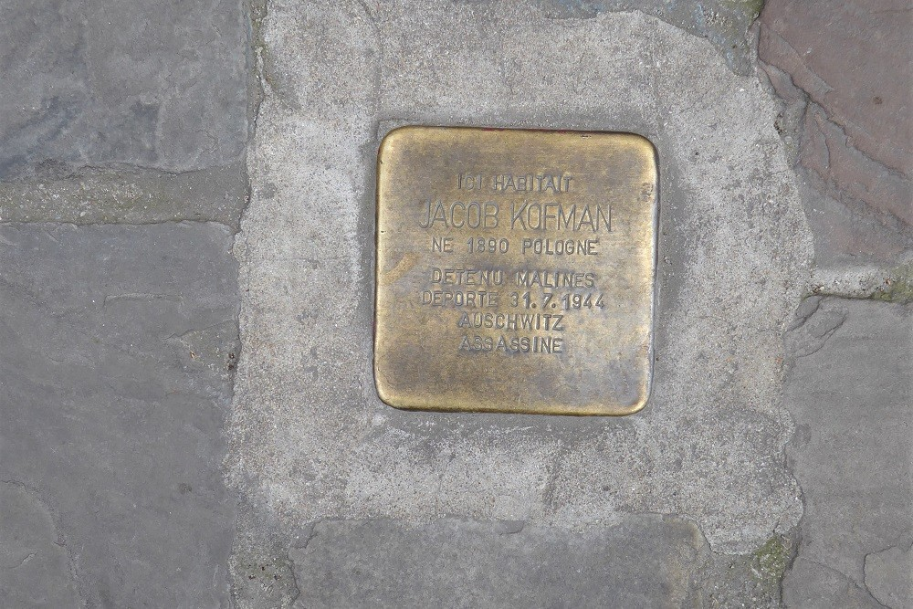 Stumbling Stone Rue des Tanneurs 130