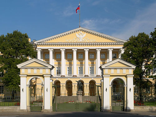 Smolny Institute (Former Military Headquarters Leningrad)