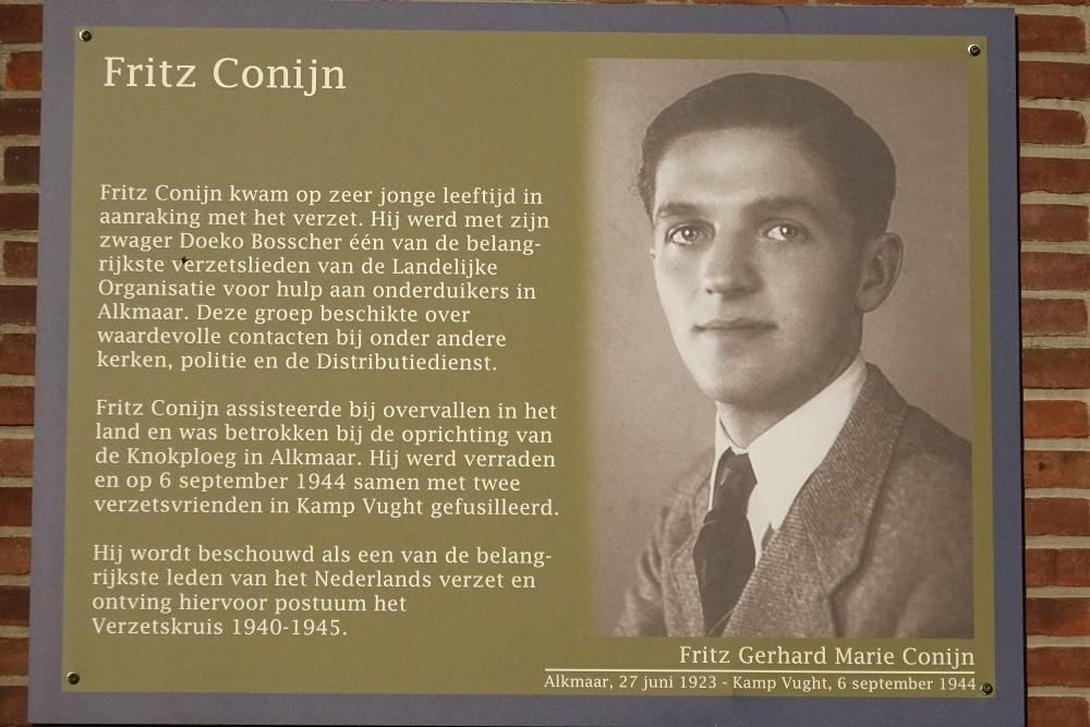 Memorial Plates Slotermeer Fritz Conijnstraat