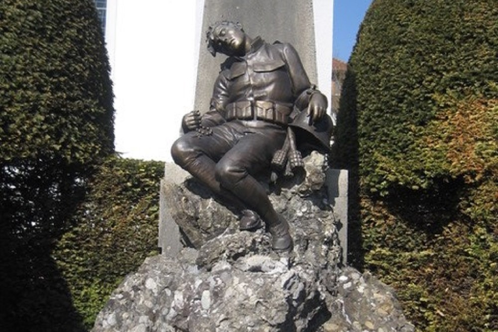 Monument To The Fallen In World War I And World War II Lingenau