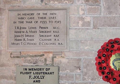 War Memorial St Deinst Church Llangarron