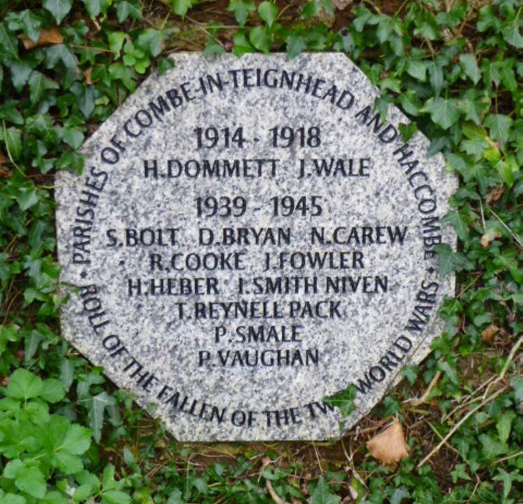 War Memorial Parishes of Combe-in-Teignhead and Haccombe