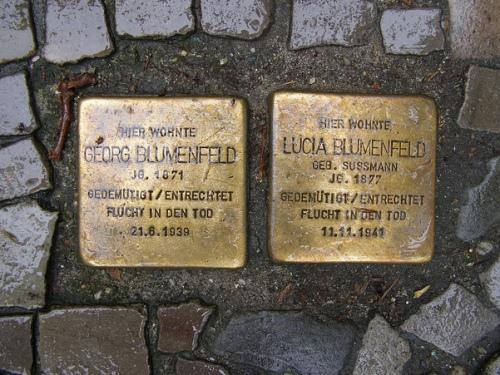 Stumbling Stones Kurfürstenstraße 58