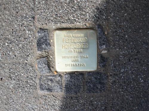 Stolperstein Karl-Friedrich-Straße 20