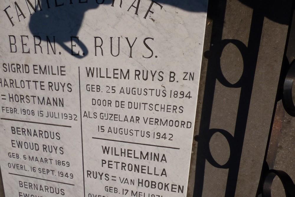 Nederlandse Oorlogsgraven Nederlands Hervormde Begraafplaats Hillegersberg