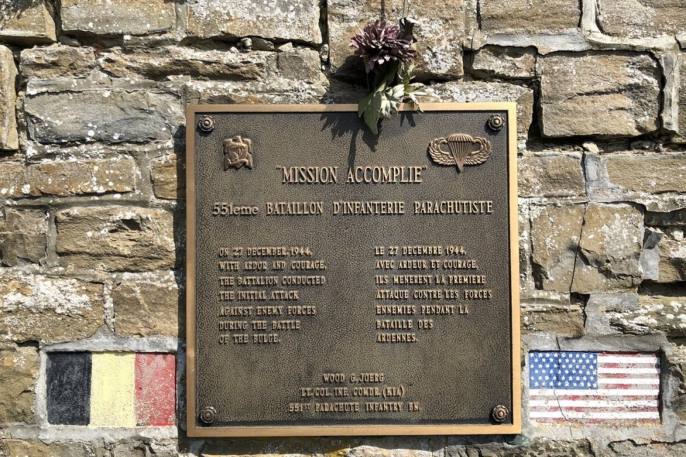 Plaque 551st Parachute Infantry Battalion