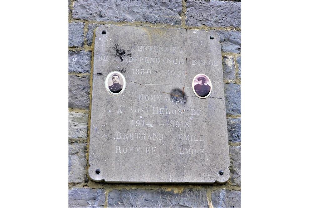 Commemorative Plaque Vaucelles