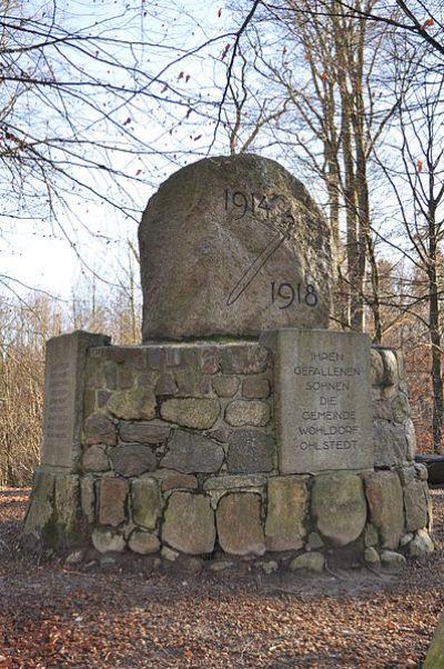 War Memorial Wohldorf-Ohlstedt