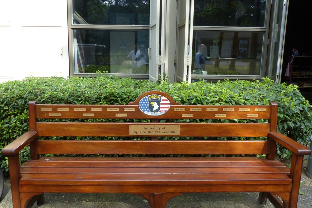 Bench in commemoration of 101st Airborne Division Best