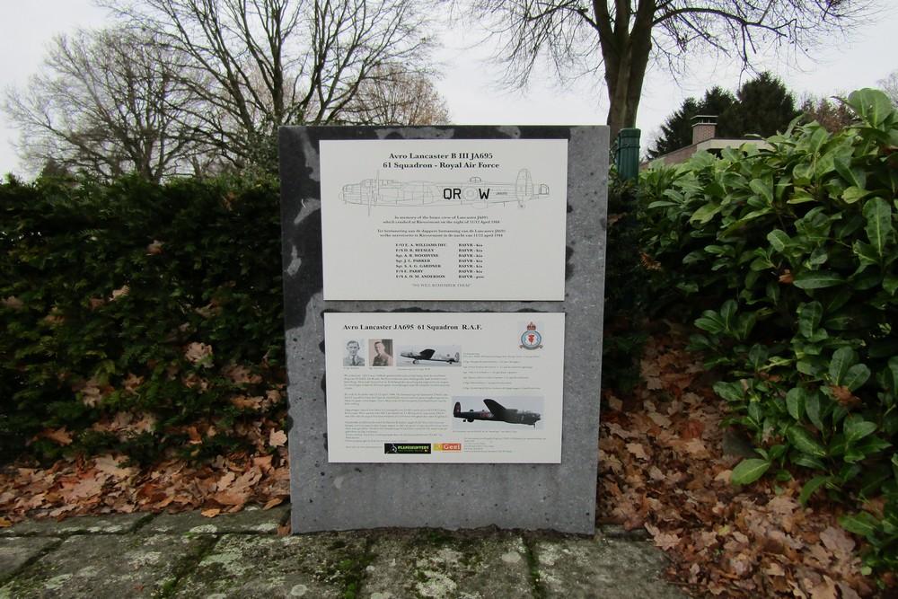 Lancaster JA695 Monument Geel