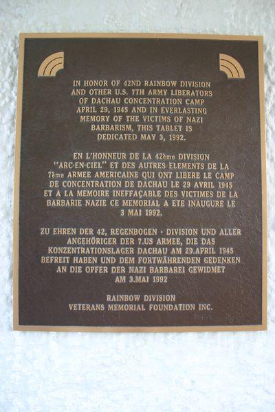 Memorial Plaquette 42e Rainbow Division