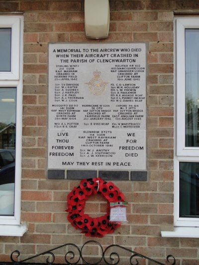 Memorial Crashes Clenchwarton