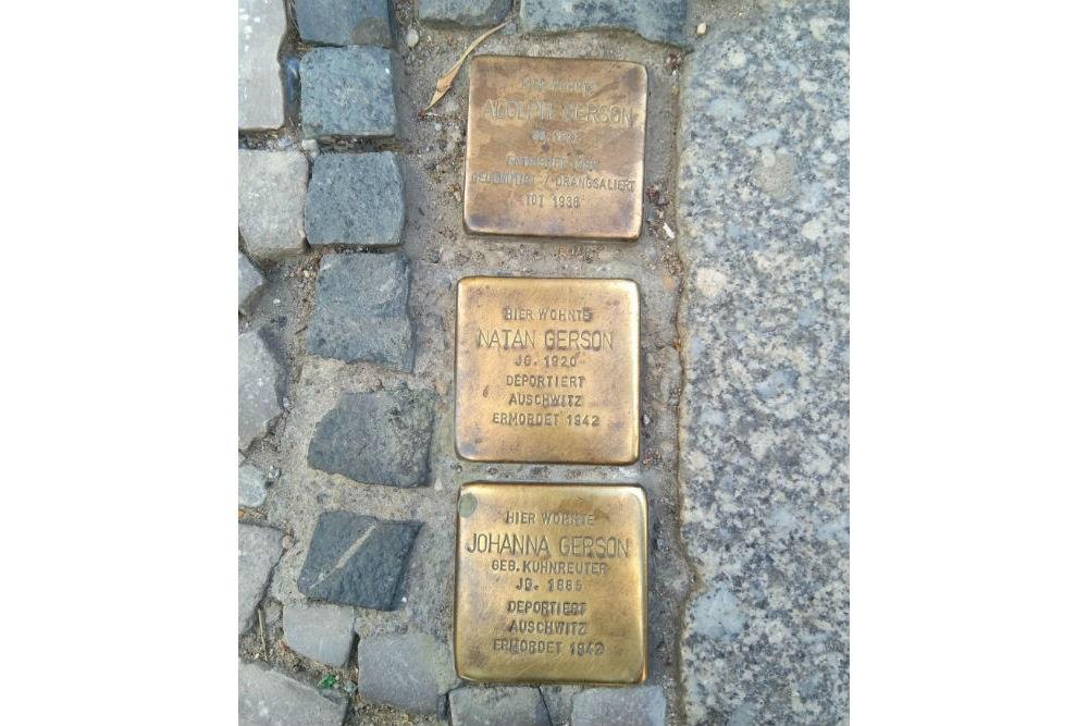 Stumbling Stones Tribseer Straße 22