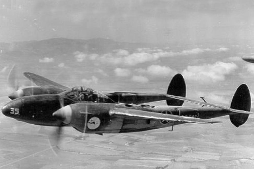 Crashlocatie F-4-1-LO Lightning # 41-2122