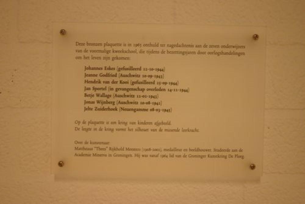 Plaquette PABO-Gebouw Groningen