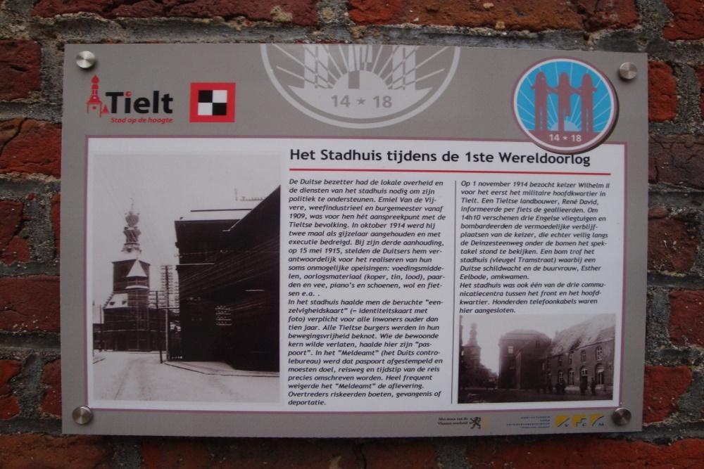 Town Hall Tielt First World War