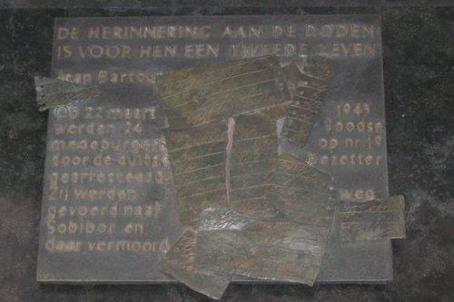 Plaque Reinkenstraat flat nr. 19