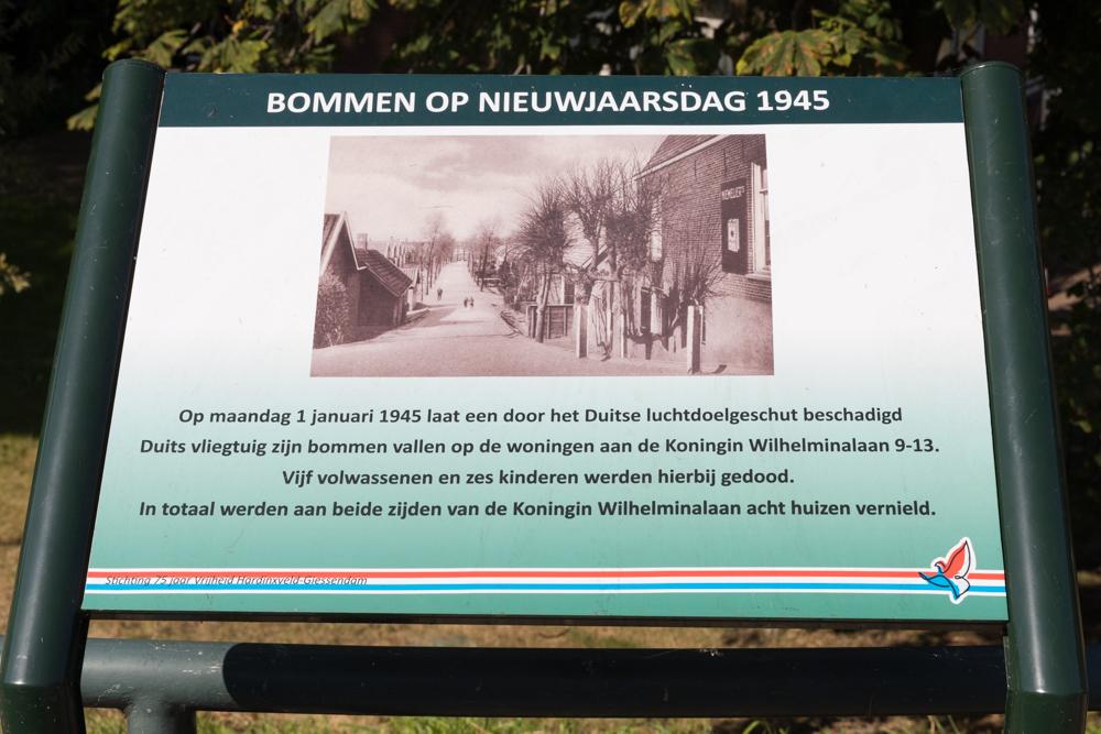 Information sign no. 5 Second World War in Hardinxveld-Giessendam
