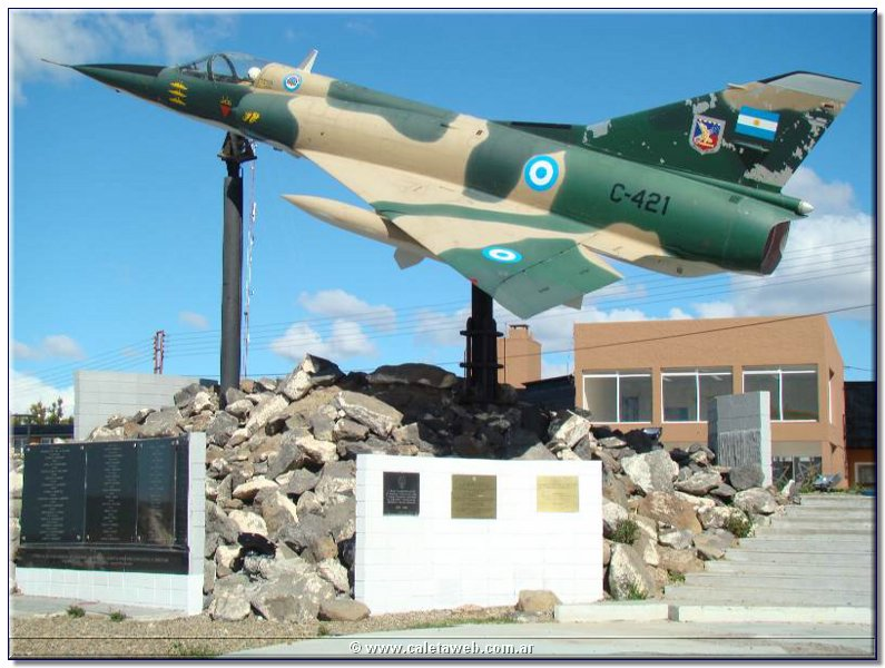 Monument Islas Malvinas van Santa Cruz