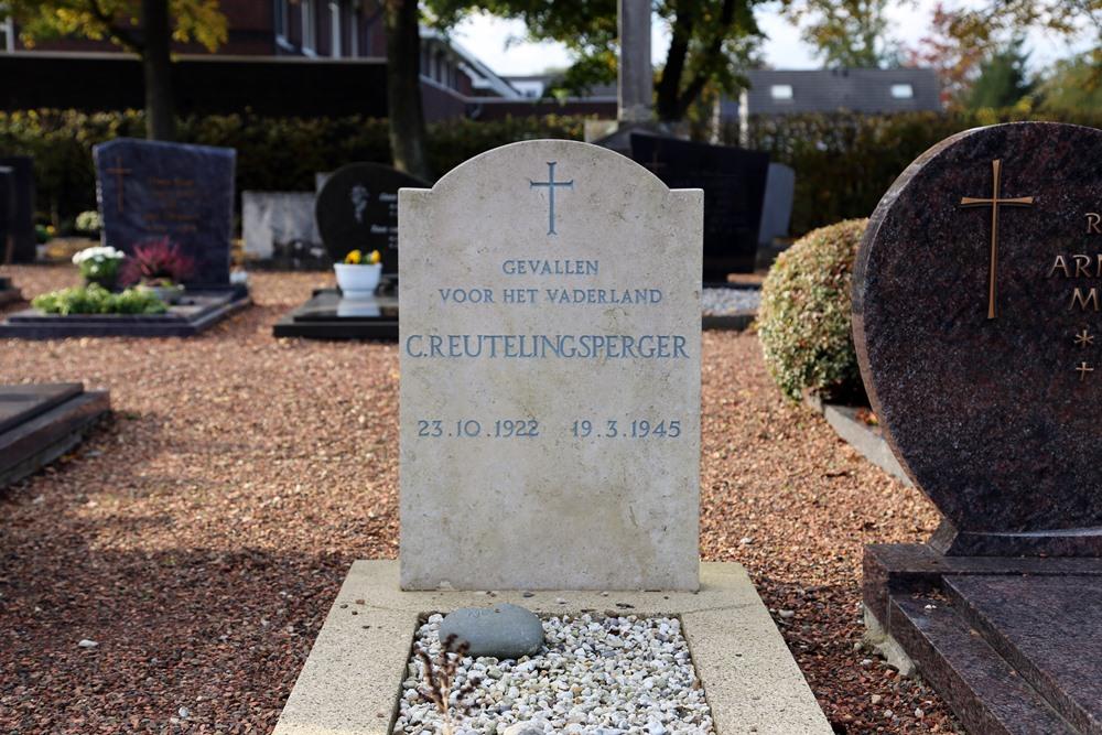 Graf Burgerslachtoffer Rooms Katholieke Begraafplaats Arcen
