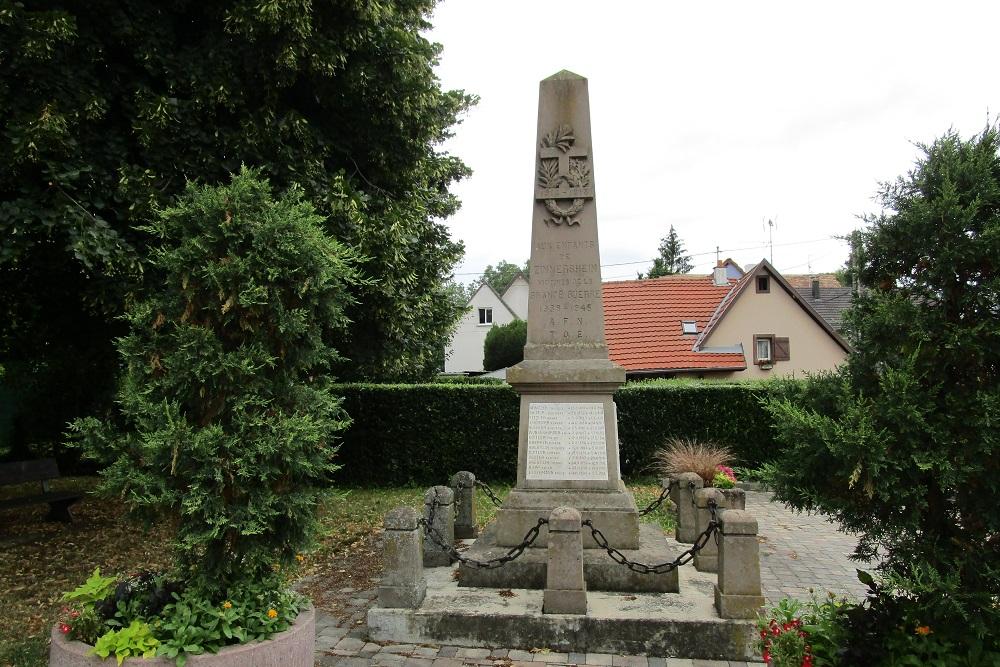 Oorlogsmonument Zimmersheim