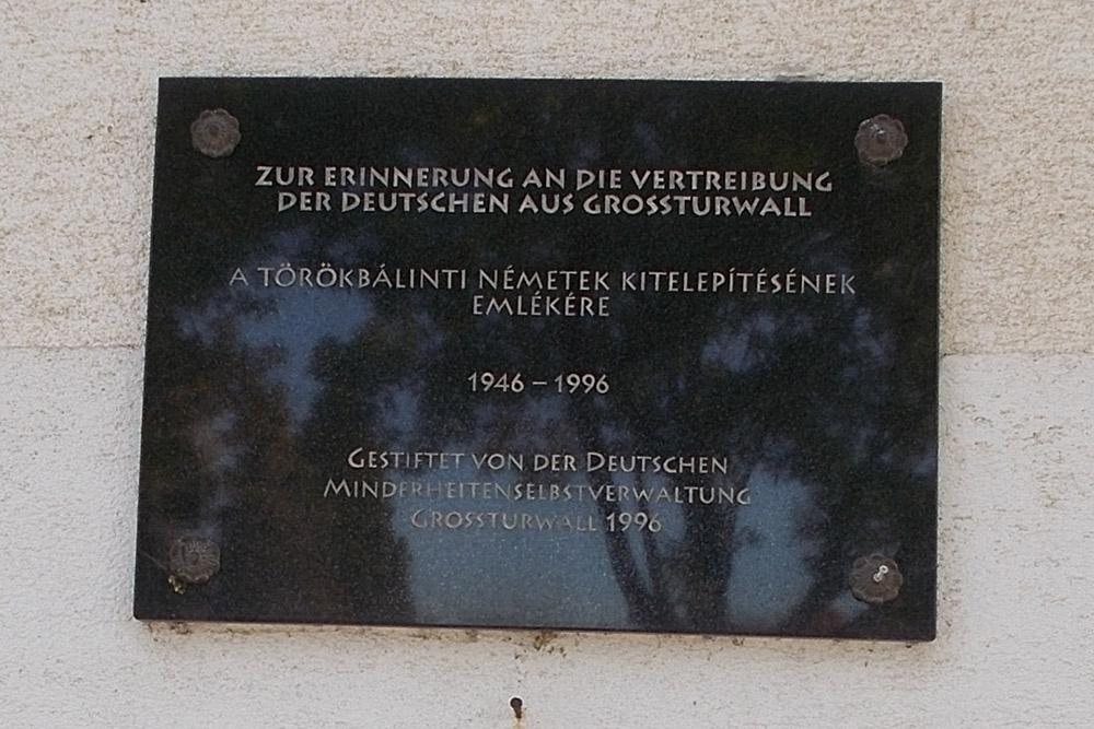 Plaque Ethnic Germans Törökbálint