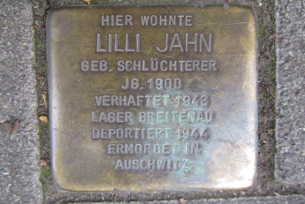 Stolperstein Bismarckstraße 29