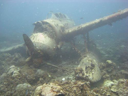 Crash Site & Remains Aichi E13A Seaplane Koror