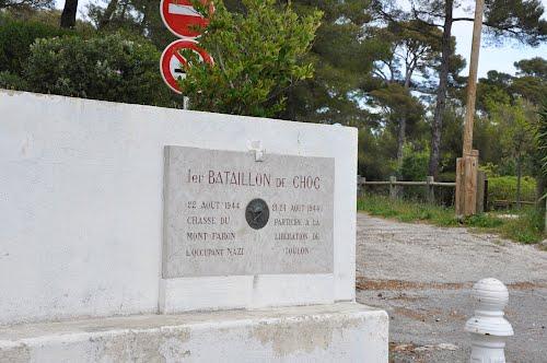 Plaque Bataillon de Choc